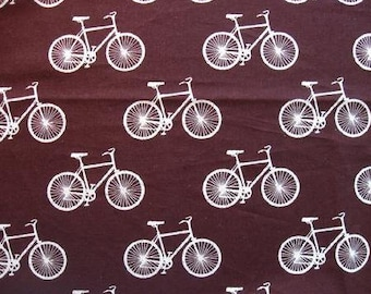 Echino Nico - Bikes Brown from Kokka Fabrics