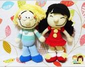 AMIGURUMI PATTERN : Cedric & Chen Amigurumi Dolls