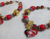 San Francisco 49ers Heart Charm Bracelet Back to School College Team Alumni Fan