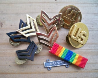Vintage US Army Military Uniform Pins - Own a Piece of American History