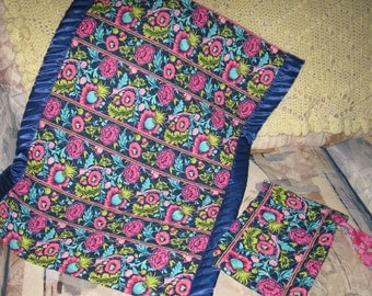 Sale - Adorable Little Travel Nap Quilt w/ Diaper Bag Wristlet