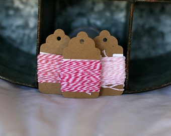 Pink bakers twine 5 yards of each, Pink twine, Pink scrapbooking twine, Pink cotton string