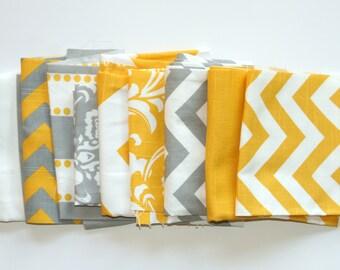 60% OFF! Fabric Scraps SALE- Premier Prints Fabric Remnants- Yellow and Grey Home Decor Fabric, Destash Cotton Pieces, Swatch Material