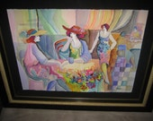 Original Watercolor by Patricia Govezensky, Signed, Framed And Ready For Hanging