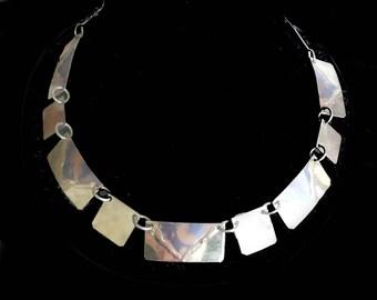 Designer Necklace Brass Shapes Unique Vintage