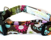 Modern Hippie Floral Dog Collar size Extra Small