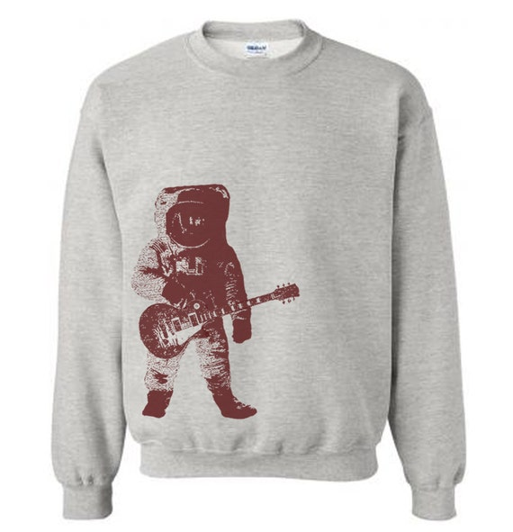 Items similar to astronaut with guitar in outer space for Outer space fleece