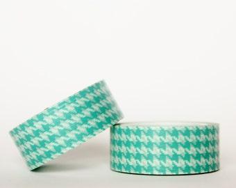 MINI 5M Turquoise Houndstooth Washi Tape