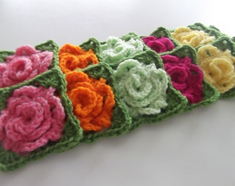 Part 3 of 5 of Granny Rose Pattern - The Leaf Row (Instant Download)