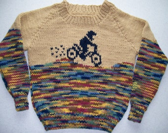 Dirt Bike Pullover Sweater