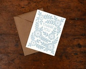 Set of Six Block Printed Thank You Cards