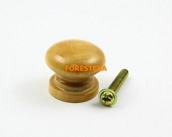 1Pcs Wood Knob Wooden Dresser Handle Drawer Knob Pull Cabinet Cupboard Handle Knob 25x20mm (WKN15)