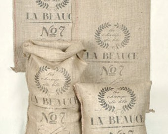 Reproduction French Country Burlap Sack