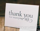 Wedding Card to Your Officiant - Thank You for Marrying Us - Priest, Rabbi, Deacon Note Card to go w/ Gift - CS08
