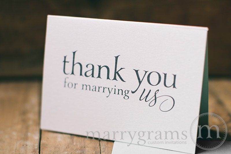 Thank You Gifts Wedding Helpers : Wedding Card to Your Officiant Thank You for Marrying Us