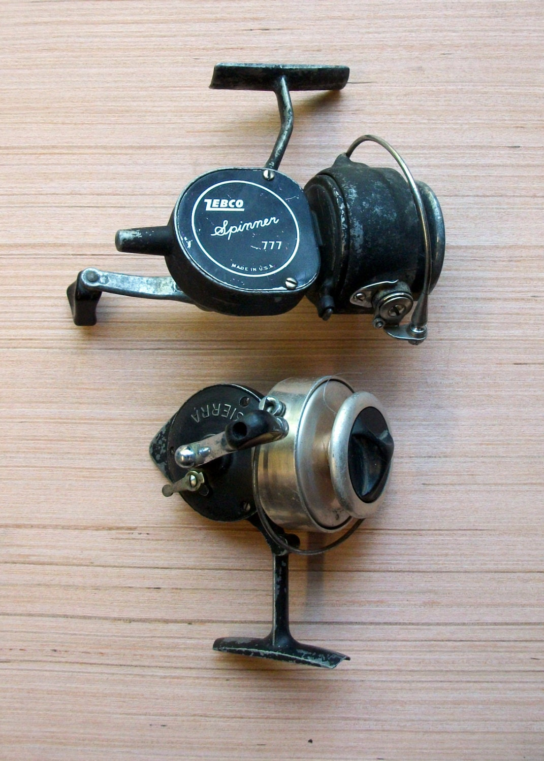 vintage fishing reels antique spinning reels sierra zebco