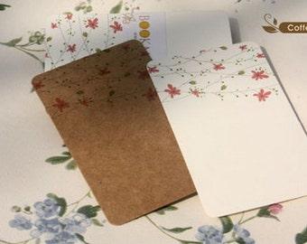 Label Card - Kraft Papaer Card & White Cardboard - Branche - 24 sheets