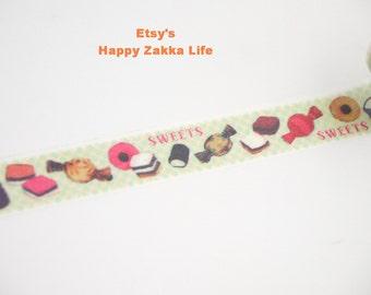 Japanese Washi Masking Tape - Candy House - 11 Yards