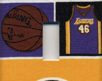 Los Angeles Lakers Single Light Switch Plate