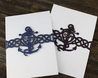 "Laser cut belly band - ""Nautical"""