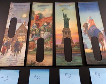 Choose From 4 - Antique 1930s Salesman Samples Display Lithograph Advertising Covers for a Thermometer. Scenery Landscape Lithos.