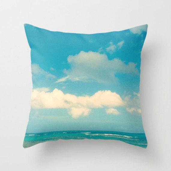 Coastal Decorative Pillow Covers : Blue Throw Pillow Covers 18x18 22x22 Beach Pillow Covers