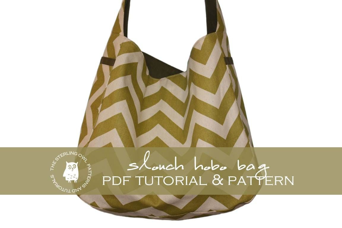 Free Hobo Purse Pattern : Slouch Hobo Bag PDF Tutorial and Pattern by thesterlingowl