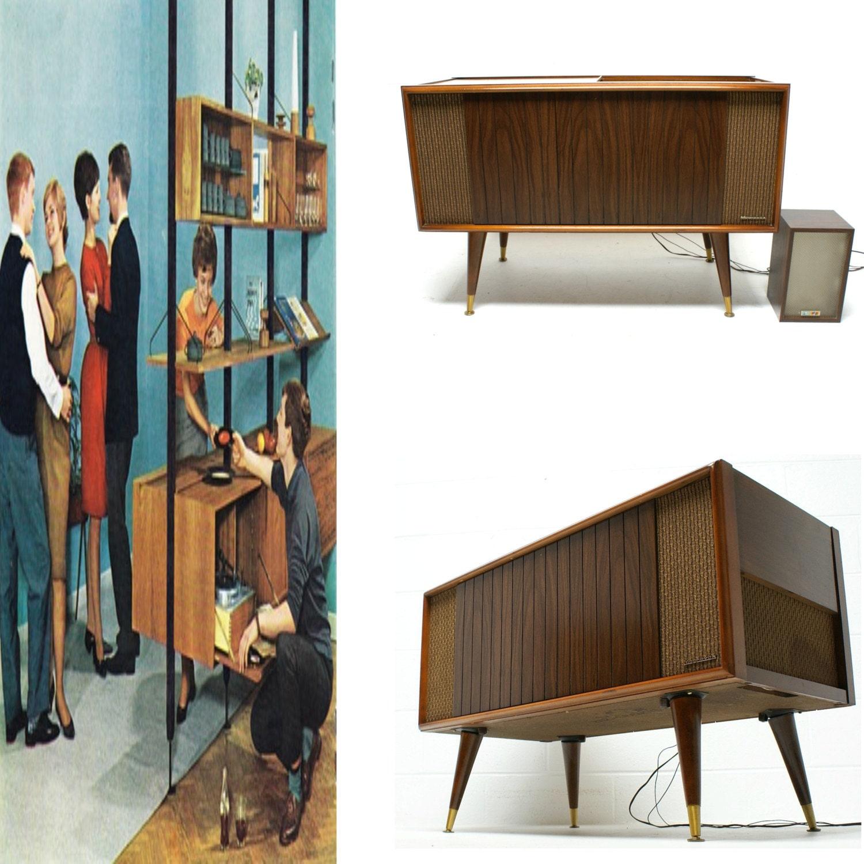 VINTAGE 50s 60s Mid Century Modern Magnavox Phonograph Record