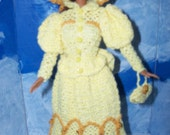 Barbie in a 1900s Yellow Dress