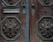 Old Rustic Brown Turquoise Door Art Print Home Decor Door Photograph Turquoise Brown Home Decor New Jersey City Art Print