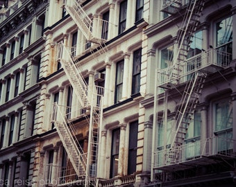 NYC Soho Architecture Photography New York City Vintage Photo Art Print Industrial Rustic Modern Home Decor