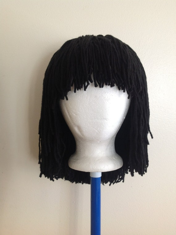 Crochet Real Hair : Handmade Crochet yarn Hair wig, women, baby, kids, Black hair, yarn ...