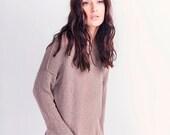 Women cotton cropped Sweater - Hand-made Knitwear - G-026