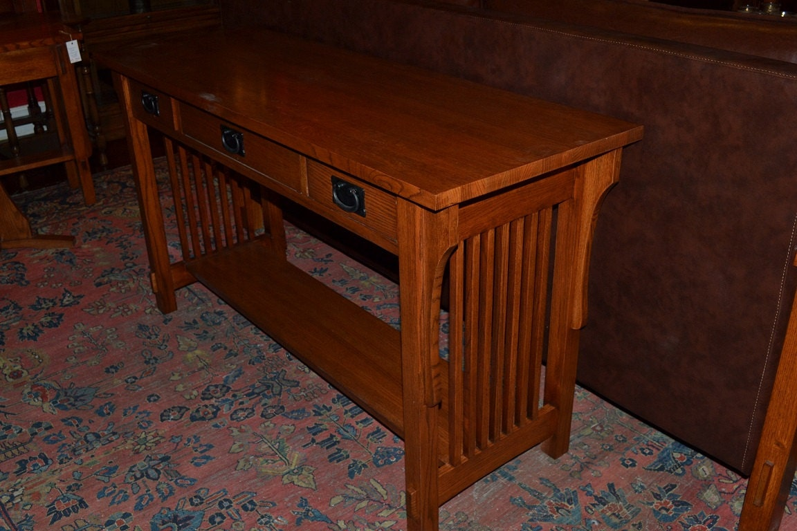 Unavailable listing on etsy for Arts and crafts sofa table