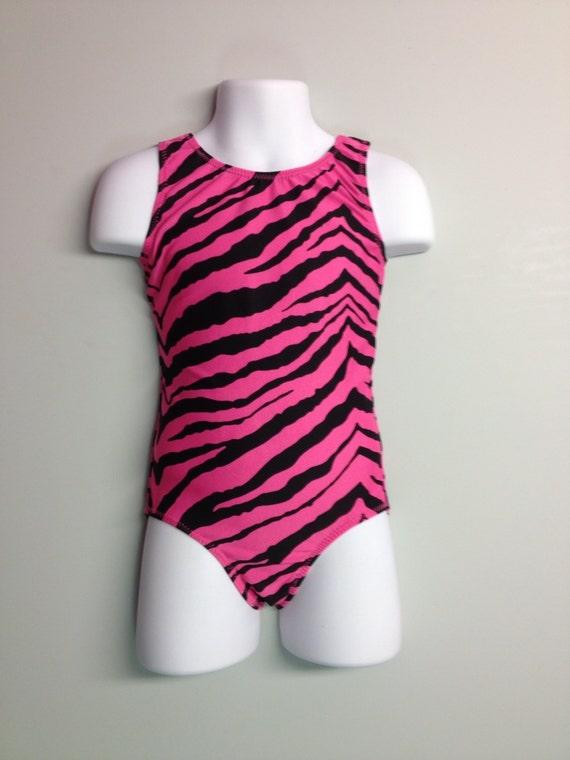 Pink zebra gymnastics leotards