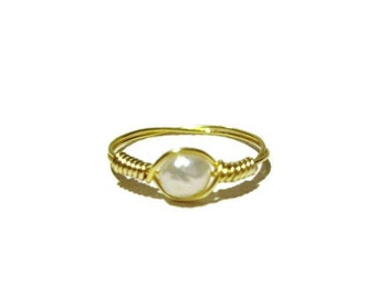 Delicate Freshwater Pearl Ring Pinkie/Child