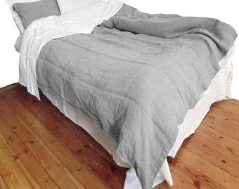 Duvet cover Taupe Gray color pure Linen Flax - Washed Softened Lightweight - Twin Full Double Queen King Cal King - USA size