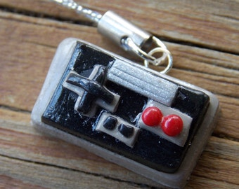 Polymer Clay Nintendo Controller Pendant For Necklace Or Planner
