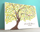 Guest Book Canvas - Wedding Tree - Cherrywik - Peachwik Interactive Canvas- 250 guests -Sakura Cherry Blossom Guest book Wrapped Canvas