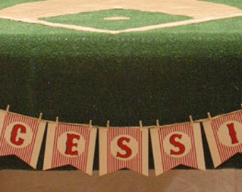 Baseball Concessions Birthday Party Banner Decor
