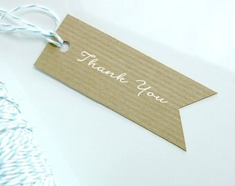 Vintage Style Kraft Brown Paper Tag, Recycle Paper DIY Wedding Name Tag, Thank you tag, Gift tag, Wedding Guest Name Tag (Qty 100) - blank