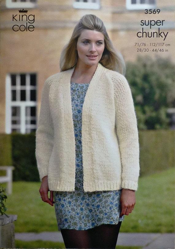 K3569 Ladies Long Sleeve Cardigan Knitting by ...