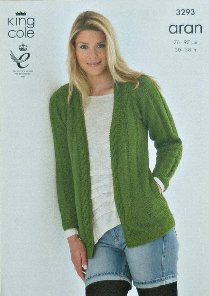 Womens Knitting Pattern K3293 Ladies Long Sleeve Cardigan with Side Pockets K...