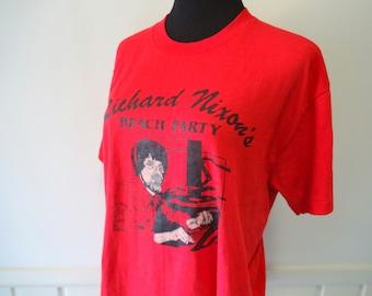 Vintage Richard Nixon's Beach Party T-Shirt 1980s