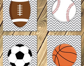 Boys Room / Nursery Sports Wall Hangings Decor