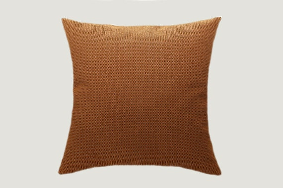 Gold orange textured decorative fabric throw pillow case - Fabric for throw pillows ...