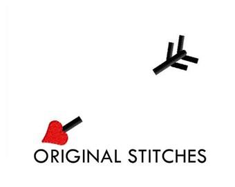 Valentine's Day Cupid Heart Arrow Monogram Dressing Machine Embroidery Digital Design File 4x4 5x7 6x10