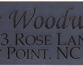 Reserved for Elizabeth Garrison - Add On Accessory - Made In America - Engraved Name Plate
