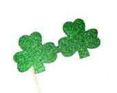 Photo Booth Props - Shamrock Glitter Glasses - St. Patrick's Day Props