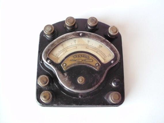 Antique Volt Meter : Vintage weston model amp meter voltmeter electrical
